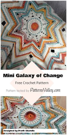 Mini Galaxy of Change Baby Blanket Pattern [Free Crochet Pattern] #freecrochetpatterns #minigalaxy #crochetpattern #crochet #crochetblanket #babyblanket