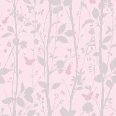 Fine Decor Geo Butterflies Glitter Wallpaper Pink / Silver (FD40932) - Wallpaper from I love wallpaper UK