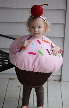 halloween costume from a lampshade...but without a lampshade for me because I actually want my kid to be able to walk! :D