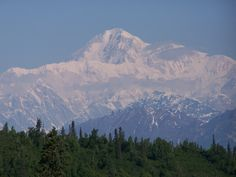 Denali (as the natives call it)!  Taken from outside the lodge we stayed at in June 2007