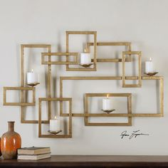 Uttermost 12871 Brighton Wall Sconce Candle Holder In Gold
