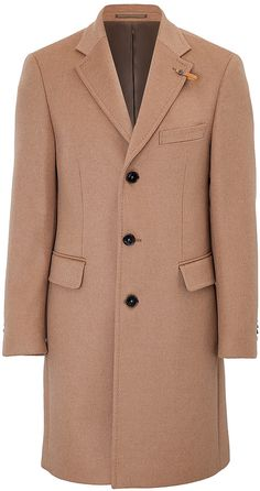 $1,018, Camel Overcoat by Baldessarini. Sold by STYLEBOP.com. Click for more info: http://lookastic.com/men/shop_items/112928/redirect