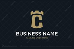 Logo for sale: Letter C Castle Logo Simple and unique combination of letter C and castle for elegant brand. alphabet c castle luxury strength security financial venture men s accessories watches apparel palace fort citadel realty real estate realtor logo logos