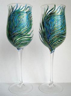 Peacock Pinot Grigio Wine Glasses
