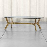 Crate & Barrel - Furniture Collection Fall/Winter 2015 - Elke Glass Coffee Table