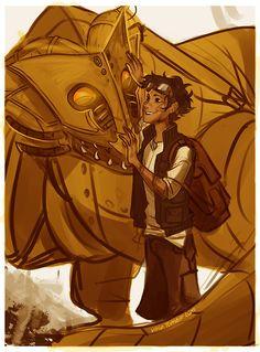 Leo Valdez and Festus the dragon