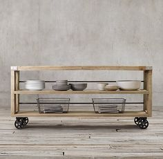 Ana White | Build a Wood and Steel RH Inspired Console - Feature by Build it Craft it Love it | Free and Easy DIY Project and Furniture Plans