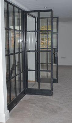 Lightfoot Windows (Kent) Ltd internal Crittall door screen featuring fire rated glass.
