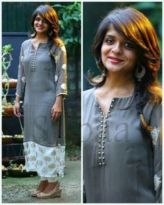 Pin By Christine Thomas On Hairstyles Blouse Designs Churidar Designs, Kurti Neck Designs, Dress Neck Designs, Blouse Designs, Sleeve Designs, Salwar Pattern, Kurta Patterns, Dress Patterns, India Fashion