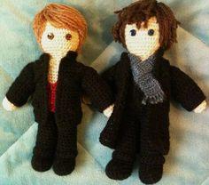 Amigurimi Watson and Holmes (BBC version)