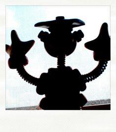 Sneak Peek: robot in awe of sunny day by HerArtSheLoves, via Flickr