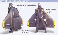 Jet pack flying wing
