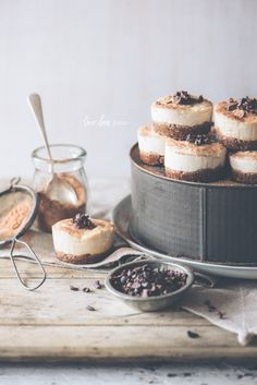 Raw Peanut Butter Cheesecake Tartlets — Two Loves Studio, food photography, food styling