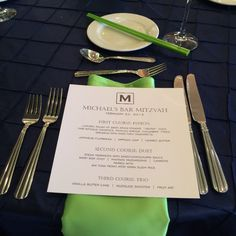 bar mitzvah custom monogram menu http://www.theeventessentials.com/