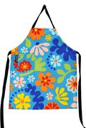 Mimi The Sardine Organic Cotton Flora Blue Apron for Kids