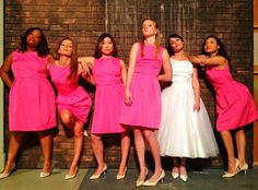 Rachel Berry in Her Wedding Dress and The Glee Girls Spoof the Bridesmaids Movie Poster