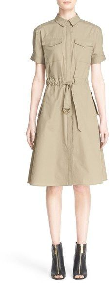 Burberry Brit 'Tuesday' Short Sleeve Cotton Fit & Flare Dress