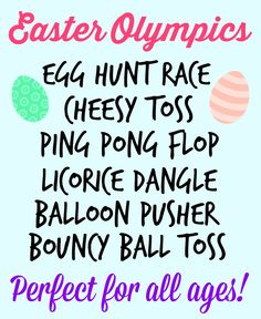 Fun Games to play over the Easter holiday.