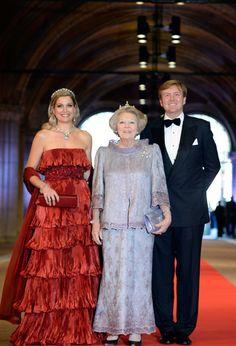 Queen Beatrix, Princess Maxima, Prince Willem Alexander
