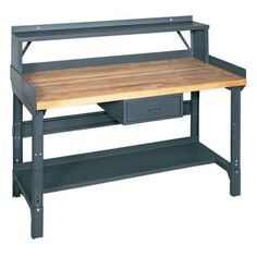 Edsal 72 in. W x 36 in. D Workbench with Storage-1411M - The Home Depot