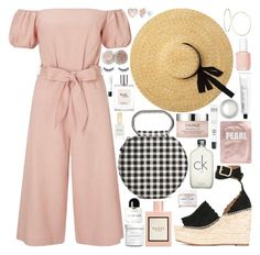 """""""Untitled #1112"""" by douxlaur ❤ liked on Polyvore featuring Miss Selfridge, Forever 21, Chloé, Essie, Caudalíe, Lapcos, Gucci, Stila, GUESS and MAKE UP FOR EVER"""