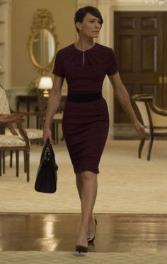 Claire Underwood, fictional First Lady with the best wardrobe.