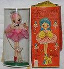 """For Sale - 1950s NRFB Vintage MISSY MODEL and Pet Dog GIGI 8"""" Cloth DOLL Org Box Japan"""