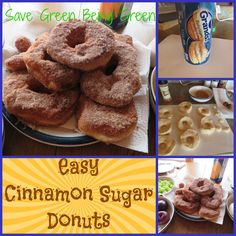 Easy Cinnamon Sugar Donuts using refrigerator biscuit dough