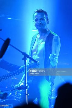 Singer Dave Gahan of Depeche Mode performs at KROQ presents Depeche Mode at The Troubadour on April 26, 2013 in West Hollywood, California.