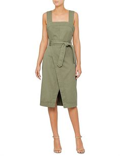 David Jones, Womens Fashion Stores, Color Khaki, Pinafore Dress, Ladies Dress Design, Dresses For Work, Women's Dresses, Designer Dresses, Fashion Quiz