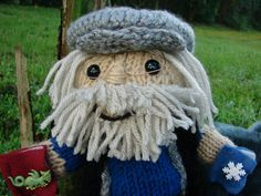 Knitted George RR Martin Doll by SocksKnitPalace on Etsy, $35.00