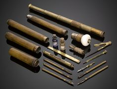 Antique Cane, Walking Stick, System Cane, Travel Cane ~ M.S. Rau Antiques  Explorer's Cane