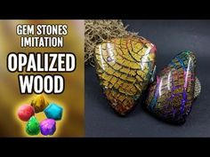 DIY Opalized Wood stone. Polymer Clay Realistic Gemstone imitation technique. VIDEO Tutorial! - YouTube