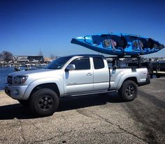 Click this image to show the full-size version. Toyota Tacoma Roof Rack, Tacoma X Runner, Toyota Hilux, Trd, World Market, Truck Accessories, Monster Trucks, Cover, Image