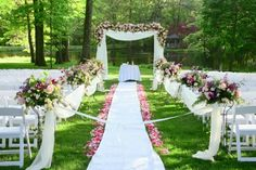 An outdoor wedding brings your wedding ceremony, and perhaps your reception as well, out into the open air. A garden wedding is, naturally, an outdoor wedding Wedding Ceremony Ideas, Wedding Aisle Outdoor, Outside Wedding, Outdoor Ceremony, Wedding Trends, Wedding Aisles, Outdoor Weddings, Wedding Arbors, Wedding Entrance
