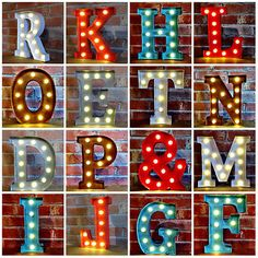 details about metal led 12 marquee letter lights vintage circus style alphabet light up sign