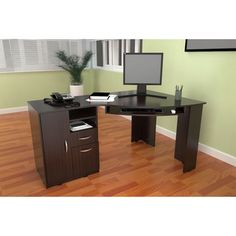 @Overstock - This attractive computer desk from Inval America features a rich, espresso wenge finish with drawer storage area. Constructed of durable, double faced melamine, this computer desk is stain, scratch, and heat resistant.http://www.overstock.com/Home-Garden/Inval-Work-Station-Computer-Desk/7286706/product.html?CID=214117 CAD              354.66