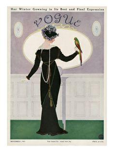 Algunas de las primeras portadas de Vogue.