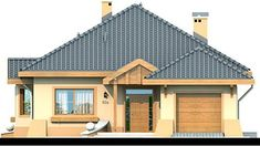 Elewacja DN Verona CE Beautiful House Plans, Beautiful Homes, Tiny House Living, My House, 1, Cabin, House Styles, Outdoor Decor, Home Decor