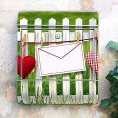 Fröhlicher Briefkasten Gartenzaun  von banjado via dawanda.com
