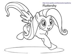 My Little Pony coloring pages - Fluttershy Jump