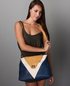 Navy and Yellow Purse From LuLu's