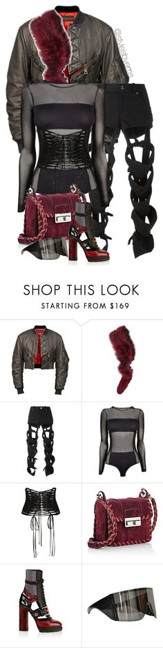 """""""Untitled #522"""" by stylesbyems ❤ liked on Polyvore featuring Louis Vuitton, Charlotte Simone, Nasir Mazhar, By Malene Birger, Dolce&Gabbana, Lanvin, Burberry and Rick Owens"""