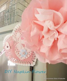 Paper Napkin Flowers and tutorial ~ these are so pretty!