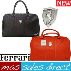 New puma sports weekender ferrari hold all retro messenger unisex black red  bag 7070f648186