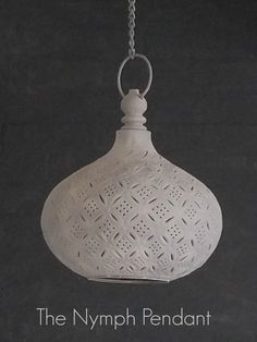 The Nymph Moroccan Grey Pendant Light. Available at The House Planner.
