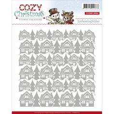 Find It Trading Yvonne Creations Embossing Folder-Cozy Christmas