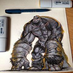 Monkey mode? #battleberzerkerbalto #markers #ink #sketch #coffee #makestuff #gorilla #beastmode #kingkong #rampage #george #lizzy #ralph #co...