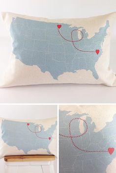 An excellent gift for someone who's far away but always in your heart! Perfect for those long distance loves or the BFF who's just moved. Personalize with any location around the US or around the world. | Made on Hatch.co by independent designers and makers who care.