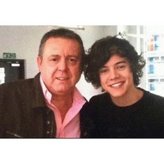 Harry Styles and his dad One Direction Friends and Family ❤ liked on Polyvore